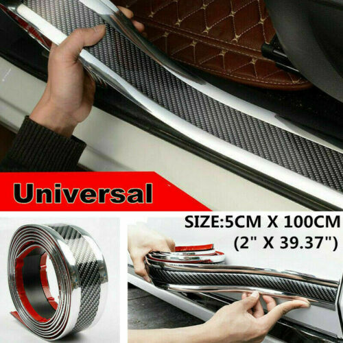 Car Parts - Parts Accessories Carbon Fiber Car Sticker Door Plate Cover Anti Scratch Sticker
