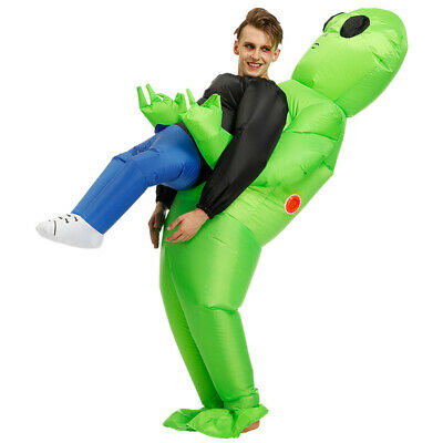 Cosplay For Children (Halloween Green Alien Carrying Human Costume Funny Suit Cosplay for Adult)
