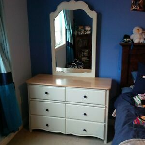 Matching dresser with mirror with night stand