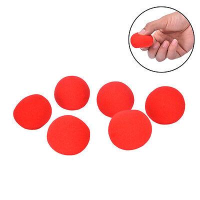 10x4.5cm Finger Zauberrequisiten weichen roten Schwamm Ball CloseUp Comedy TC W0