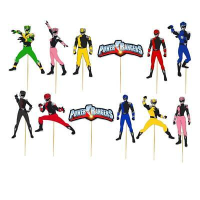 POWER RANGERS CUPCAKE CAKE TOPPER ranger party balloon decoration supplies](Power Ranger Party)