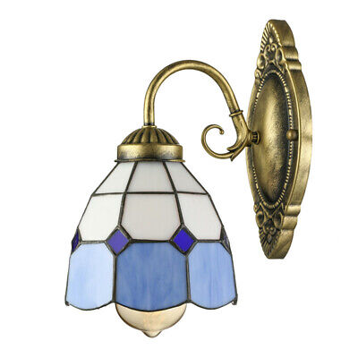 Victorian Style Wall Sconce Tiffany Art Glass Wall Light Hallway Lamp Fixture