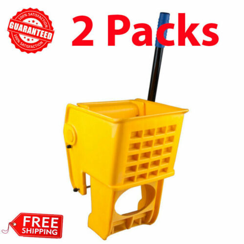 (2 Pack) Yellow Replacement Mop Bucket Side Press Wringer for 36 Qt. Mop Bucket