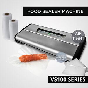 New Vacuum Food Sealer Saver Storage Machine Rolls Bags Stainless Steel