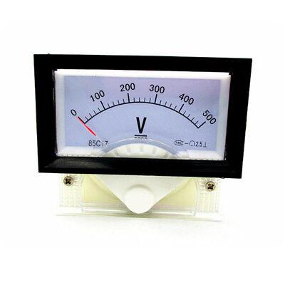 New Dc 0-500v Analog Dial Panel Meter Voltmeter Gauge Voltage Meter 7060