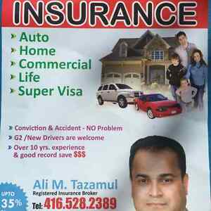 Lowest quote for High/low risk auto,Commercial auto,Supervisa,.