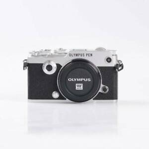 Olympus Pen-F Digital Camera- Silver - Extra accessories - Like New