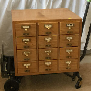 ANTIQUE LIBRARY FILING CABINET