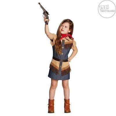 tüm / Kleid Cowboy Girl 2-teilig Gr. 116 - 140 (Land Girl Kostüm)