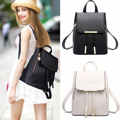Fashion Women Backpack Travel PU Leather Handbag Rucksack Shoulder School Bag US