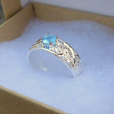 Hawaiian Sterling Silver Scrolling See Through Round Blue CZ Toe Ring TR1123 IW