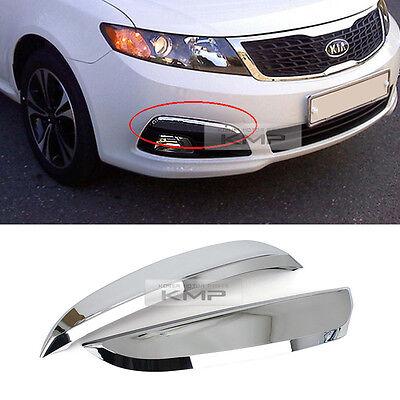 Chrome Fog Lamp Cover Garnish Molding 2Pcs Trim For KIA 2009 2010 Optima / Lotze