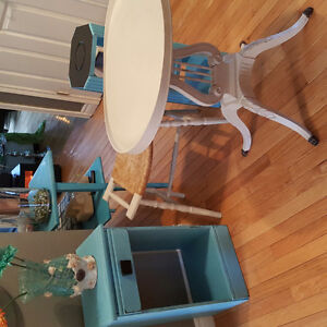 Antique refinished solid wood furniture