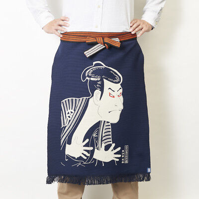 Printed MAEKAKE Sharaku / apron / Made in Japan