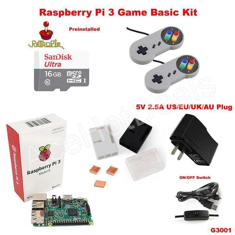Computer Games - Raspberry Pi 3 Model B Retro Game Kit G3001