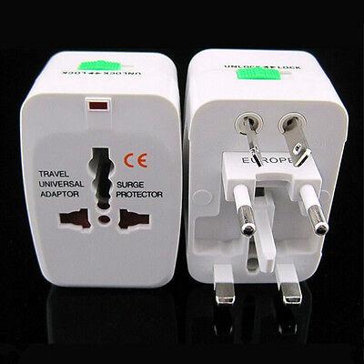 EU AU UK US To Universal World Travel AC Power Plug Convertor Adapter Socket US