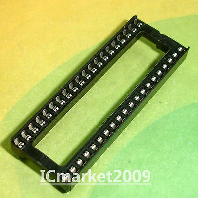 20 Pcs Dip-40 40 Pin 40pin Ic Sockets Adaptor Solder Type Wide