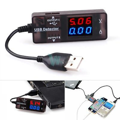 LED USB Power Current Voltage Tester Double Output for Cellphone Charger Laptop