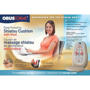 ObusForme Shiatsu Massage Cushion with Heat