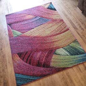 Large multi colour rectangular rug