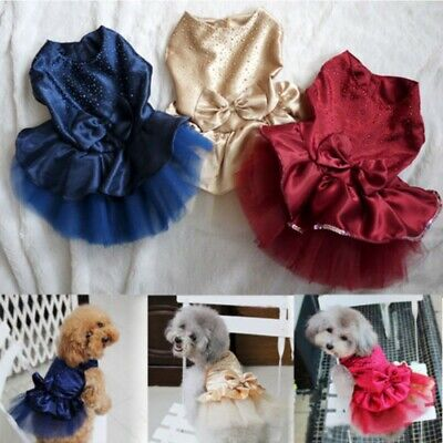 Pet Dog Cat Christmas Dress Costume Puppy Tutu Skirt Clothes Dog Outfits Apparel