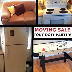 Vente de déménagement - FRIGO, POELE, TABLE DE CUISINE et chaise