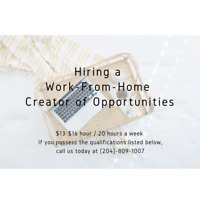 Hiring a part-time Work-From-Home Creator of Opportunities