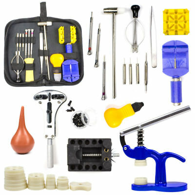 Watch Repair Tool Kit Spring Bar Tool Set,Case Opener,Watch Case Press with Case
