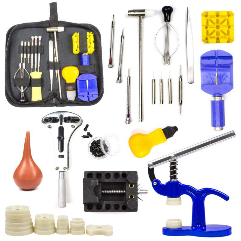 Watch Repair Tool Kit Spring Bar Tool Set,Case Opener,Watch Case Press with Case