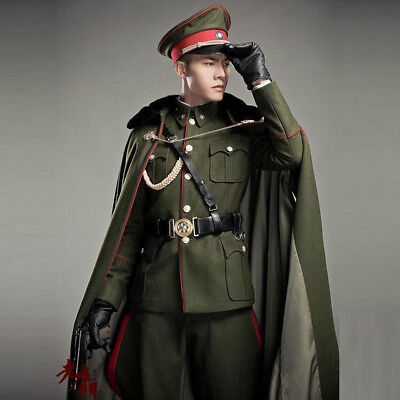 Male Cosplay The Kuomintang Army Uniform Fancy Party Full Body Costume Suit  - Male Army Costume