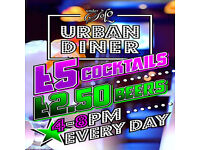 UNDERSOLO URBAN DINER NOW OPEN WITH SPECIAL HAPPY HOUR 4PM TILL 8PM