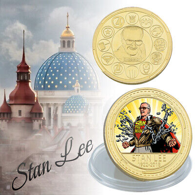 Mann Vergoldete Münze Excelsior Comic Legend Fan Geschenke (Stan Der Mann)