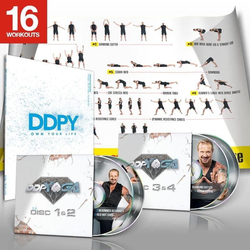 DDP Yoga 2.0 DVD discs 1-4 with Poster & Program Guide
