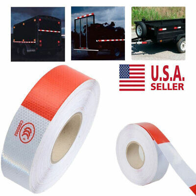 2 Vehicle Trailer Reflective Warning Safety Tape Fim Sticker Roll Strip 147ft