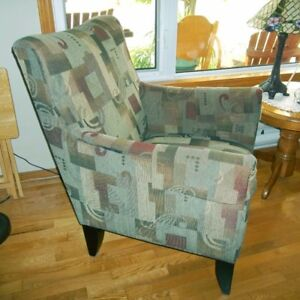 Accent Chair - Green and Burgundy