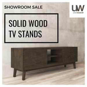 SOLID HANDMADE RUSTIC TV STAND. MANUFACTURER DIRECT