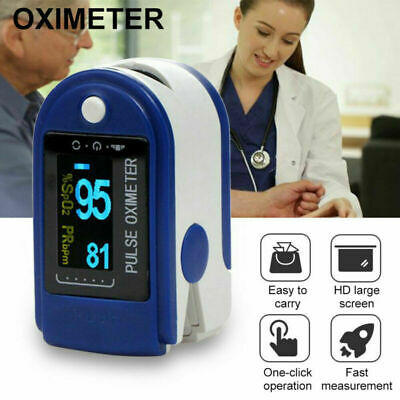Portable Finger Oximeter Fingertip Pulsoximeter Medical With Sleep Monitor