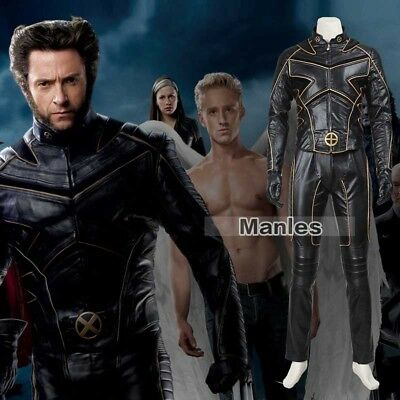 X-Men Costume The Last Stand Wolverine Logan Cosplay Outfit Leather Jacket