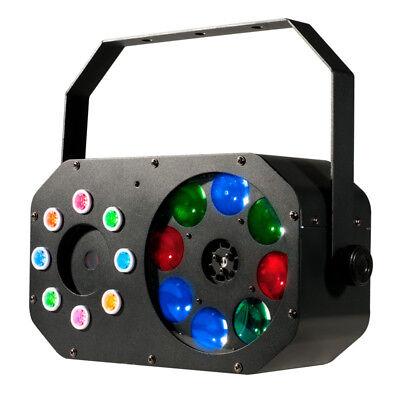 Stinger Laser (American DJ Stinger Gobo Red/Green Laser/Wash/LED Moonflower DJ Lighting Fixture)