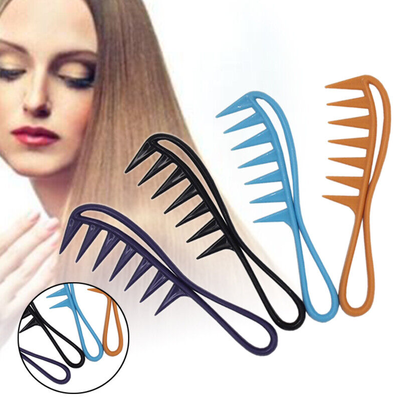 Lady Hair Comb Chic Wide Tooth Plastic Curly Hair No-static