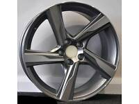 "NEW 18"" VOLVO R DESIGN ALLOY WHEELS X4 BOXED 5X108 V40 V70 V50 V60 S60 S80"