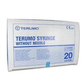 (unopened) 2 boxes of 20ml Terumo syringes without needle, 100 per pack