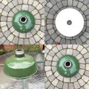 vintage 1940s metal and enameled green/white light fixture  $100