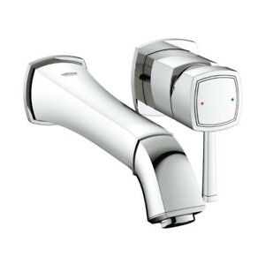 Grohe 1993100A Grandera Two Hole Wall Mount M Size Bathroom Fauc