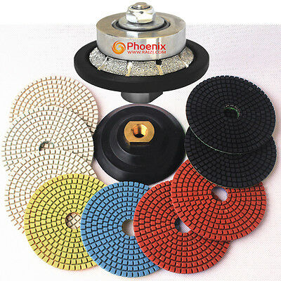4 Inch Diamond Wet Polishing Pads Set Kit for Granite Marble ES Edge for sale  China