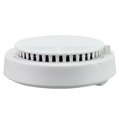 White Security Standalone Smoke Detector Fire Alarm Photoelectric Sensor Bbc