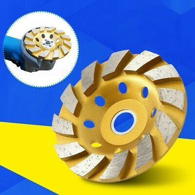 1pc 4 Gold Diamond Segment Bowl Cup Grinding Wheel Concrete Grinder Disc Cut
