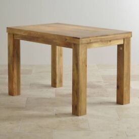 Mantis light natural solid mango 4ft dining table