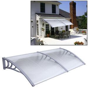 1mx2m DIY Outdoor Polycarbonate Front Door Window Awning ...