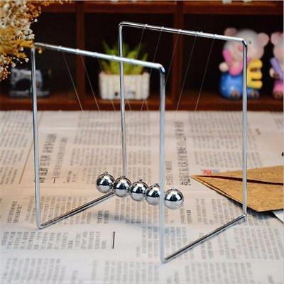 Newtons Cradle Steel Balance Balls Desk Physics Science Pendulum Desk Toys New